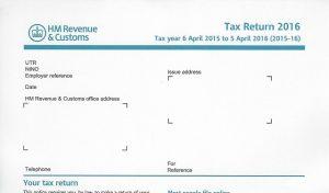 2016 HMRC Tax Return Form