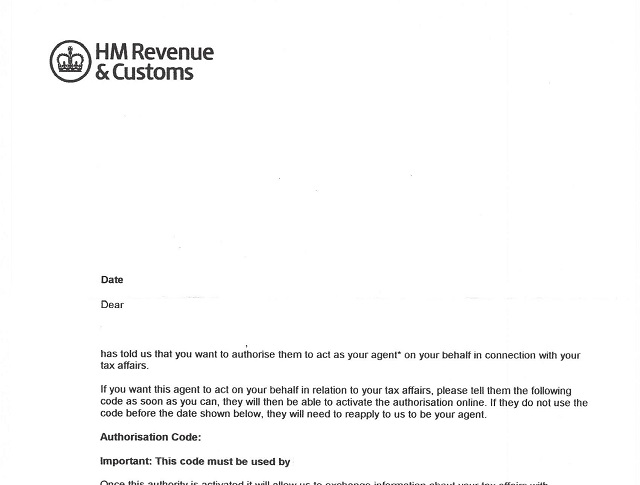 HMRC New Agent Authorisation