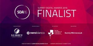 Finalist in the 2016 Surrey Digital Awards