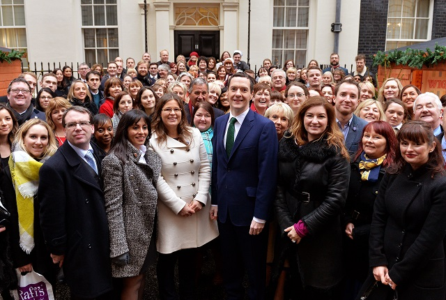 Small Business Saturday Group Photo at No11 Downing Street